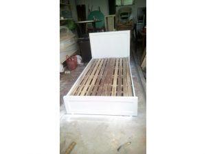 Thanh lý giường gỗ mdf 1m2 màu đen 01