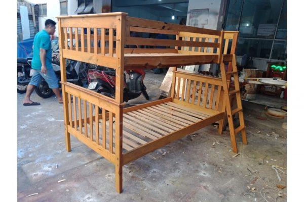 Thanh lý giường tầng cũ 1m bằng gỗ giá rẻ