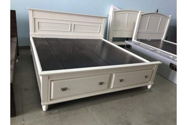 Thanh lý giường KING 1m95 x 2m màu kem giá rẻ
