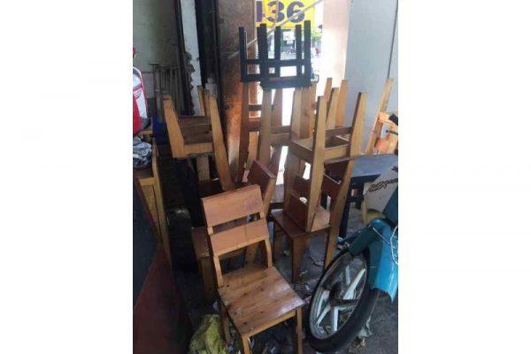 thanh lý bộ bàn ghế cafe take away