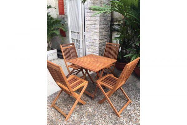 thanh lý bộ bàn ghế gỗ cafe m20