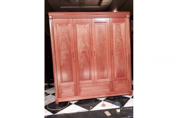 thanh lý tủ quần áo gỗ cao cấp 4 cánh mới 99%