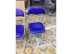 Thanh lý ghế xếp xanh chân inox giá rẻ