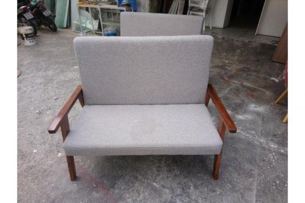 Sofa đôi gỗ nệm vải thanh lý giá rẻ