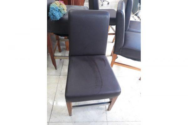Thanh lý ghế chân gỗ nệm da cũ M11 giá rẻ