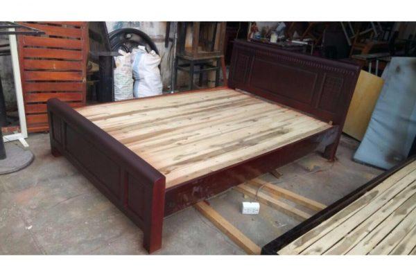 Thanh lý giường gỗ cũ 1m4 giá rẻ