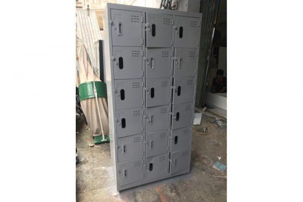 Thanh Lý Tủ Locker 18 Ngăn Bằng Sắt