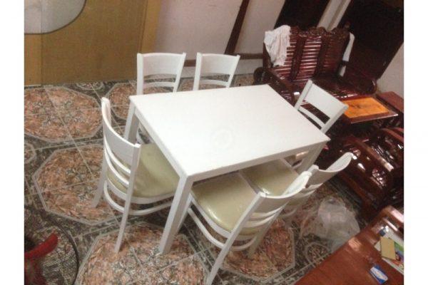 Thanh lý bộ bàn ăn gỗ 6 ghế giá rẻ