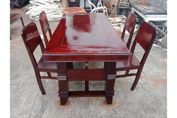 Thanh lý bộ bàn ghế cũ gõ đỏ giá rẻ