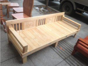 Thanh lý trường kỷ 1m8 gỗ sồi tồn kho giá rẻ