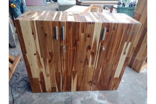 Thanh lý tủ hồ sơ cũ 3 cánh bằng gỗ