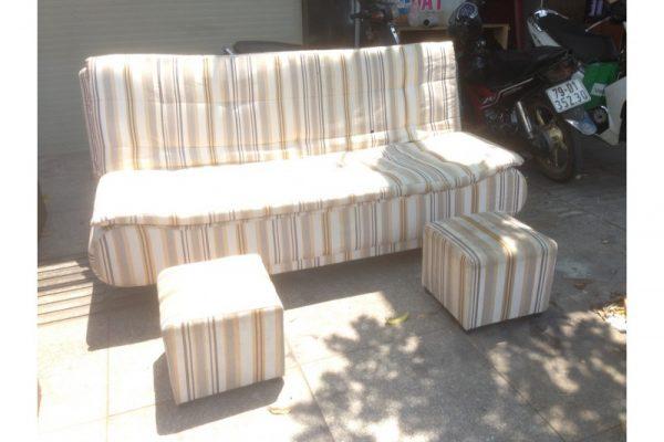 Thanh lý sofa bed cũ màu kem giá rẻ SFB001