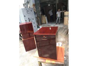 Thanh lý tủ cabin 2 ngăn cũ màu cánh gián như mới