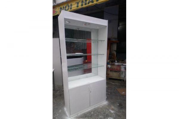 Thanh lý tủ trưng bày đợt kính 1m x 2m màu trắng