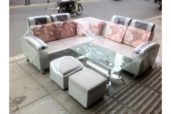 Thanh lý bộ sofa góc bọc simili 02