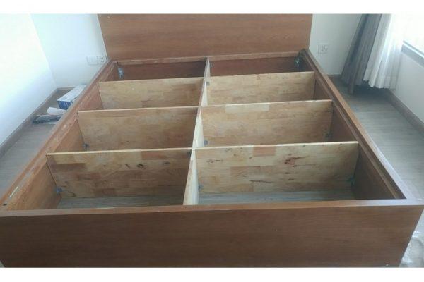 Thanh lý giường phản cũ 1m8 gỗ tự nhiên