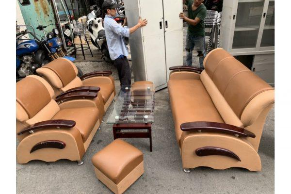 Thanh lý bộ sofa da bò cũ giá rẻ