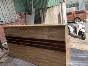 Thanh lý quầy cũ bằng gỗ 2m2 giá rẻ