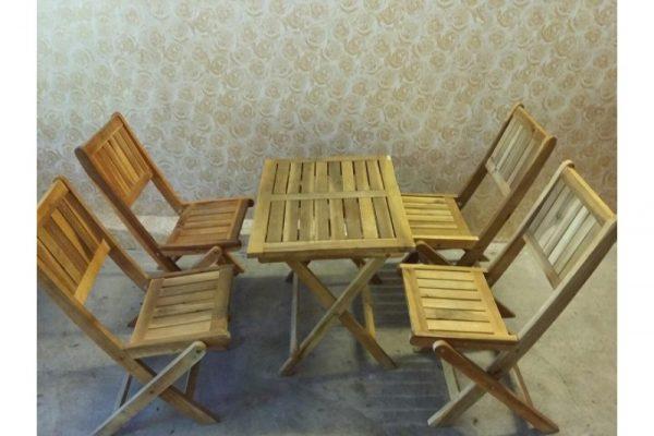 Thanh lý bộ bàn ghế xếp gỗ cafe