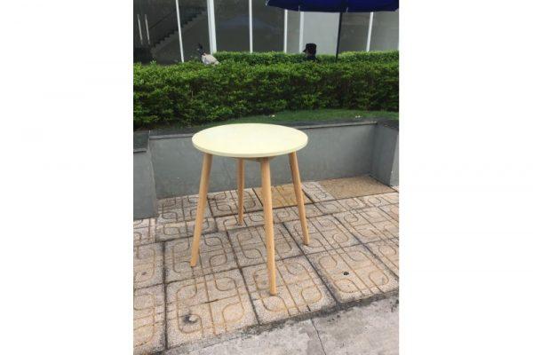 Thanh lý Bàn cafe tròn chân gỗ cũ - BCFC19