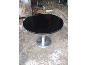 Thanh lý Bàn cafe tròn chân sắt mặt đá cũ - BCFC20