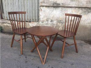 Thanh lý Bộ bàn 2 ghế cafe gỗ cũ giá rẻ