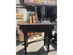 Thanh lý Bàn thờ gỗ tự nhiên cũ 1 tầng giá rẻ