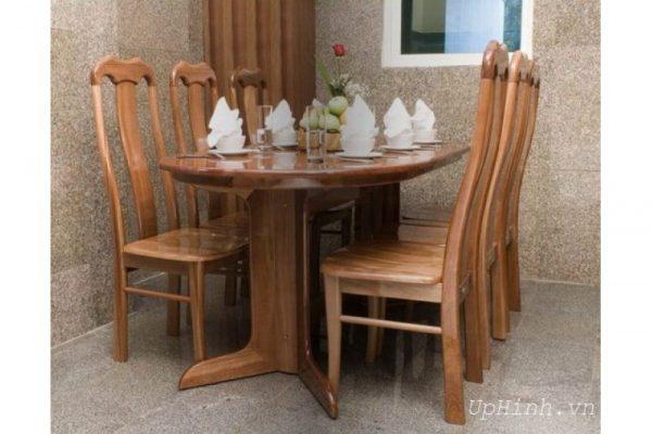 Bộ bàn ăn cũ 6 ghế hoàng anh gia lai