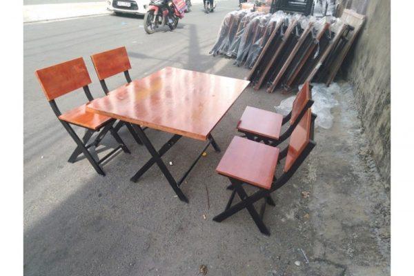 Thanh lý Bộ bàn ghế xếp quán nhậu mới giá rẻ