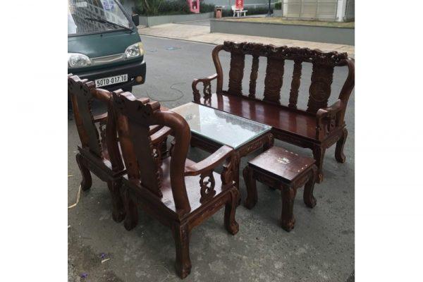 Thanh lý Bộ salon gỗ tràm tay 8 cao cấp giá kho