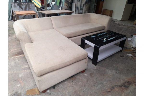 Thanh lý Bộ sofa chữ L bọc vải cũ giá rẻ