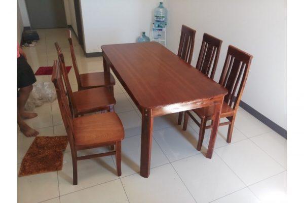 Thanh lý Bộ bàn ăn 6 ghế gỗ kiểu nhật VIP giá rẻ