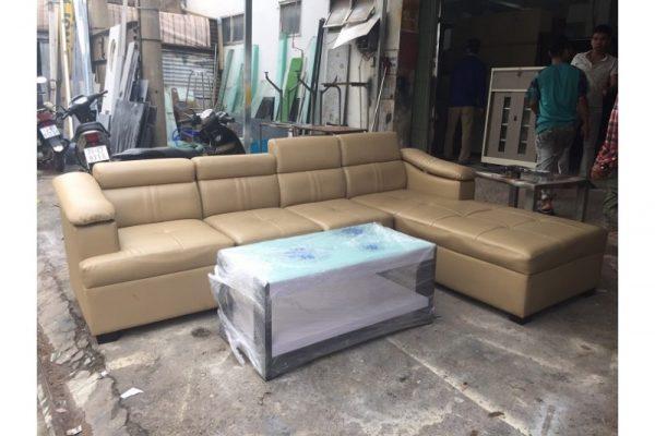 Thanh lý Bộ sofa góc L cũ bọc da cao cấp giá rẻ