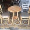 Bộ bàn ghế cafe cabin 2 ghế bàn tròn