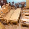 Thanh lý bộ Salon gỗ chuông đào gõ 5 món