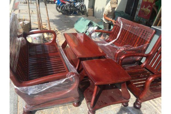 thanh lý bộ salon gỗ căm xe