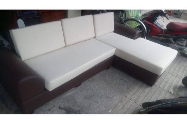 bộ sofa cũ chữ L màu kem sf04 giá rẻ