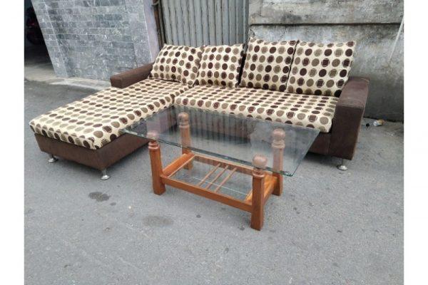 Thanh lý Bộ ghế sofa góc L bọc vải cũ - BSFC18