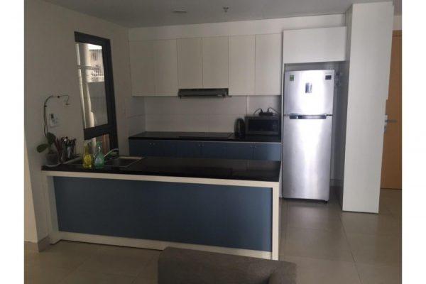 Thanh lý Bộ tủ bếp dưới màu xanh cao cấp B08