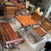 Thanh lý bộ bàn ghế cafe sân vườn cũ giá rẻ