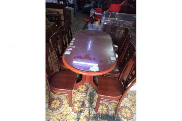 Thanh lý bộ bàn ăn cũ 8 ghế M18