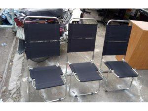 Thanh lý ghế xếp lưng lưới chân Inox