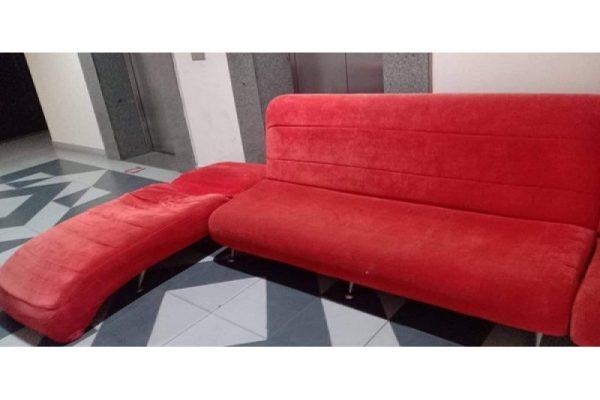 Thanh lý bộ ghế sofa thư giản cũ màu hồng