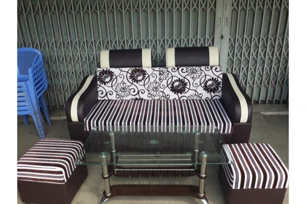 Thanh lý bộ sofa màu đen trắng hàng đẹp