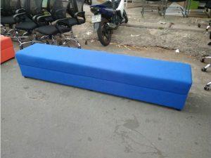 Thanh lý Băng ghế sofa bọc vải màu xanh cũ giá rẻ