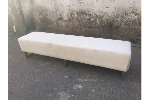 Thanh lý Băng ghế sofa chân sắt bọc vải cũ giá rẻ