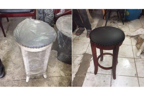 Ghế bar cũ chân gỗ lót nệm tồn kho giá rẻ