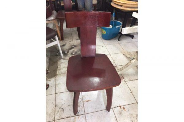 Ghế cafe gỗ cũ lưng chữ T độc đáo giá rẻ