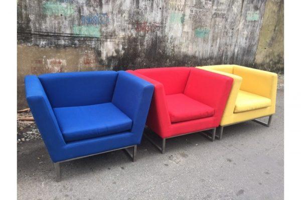 Thanh lý Ghế sofa đơn bọc vải cũ kiểu đẹp giá rẻ