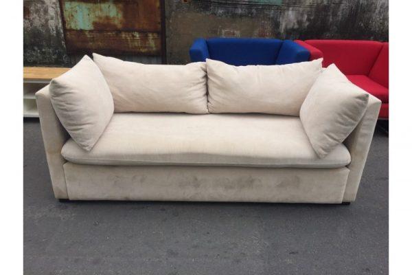 Thanh lý Ghế sofa đôi bọc vải màu kem cũ giá rẻ